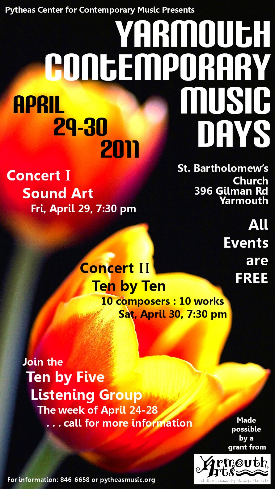 Yarmouth Contemporary Music Days 2011